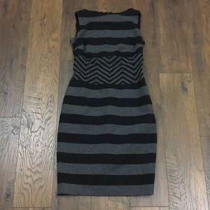 Cache striped body con sleeveless dress